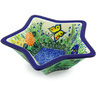 8-inch Stoneware Star Shaped Bowl - Polmedia Polish Pottery H5502G