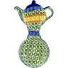 8-inch Stoneware Tea Bag or Lemon Plate - Polmedia Polish Pottery H1849D