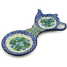 8-inch Stoneware Tea Bag or Lemon Plate - Polmedia Polish Pottery H2140K