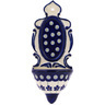 8-inch Stoneware Wall Pocket - Polmedia Polish Pottery H0255A