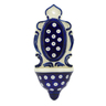 8-inch Stoneware Wall Pocket - Polmedia Polish Pottery H0257A