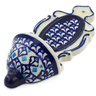 8-inch Stoneware Wall Pocket - Polmedia Polish Pottery H4432J