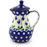 8 oz Stoneware Creamer with Lid - Polmedia Polish Pottery H6093F
