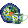 8 oz Stoneware Cup with Saucer - Polmedia Polish Pottery H5357G