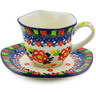 8 oz Stoneware Cup with Saucer - Polmedia Polish Pottery H8340J