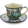 8 oz Stoneware Cup with Saucer - Polmedia Polish Pottery H8343J