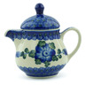 8 oz Stoneware Pitcher with Lid - Polmedia Polish Pottery H0550J