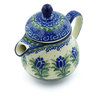 8 oz Stoneware Pitcher with Lid - Polmedia Polish Pottery H2793C