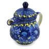 8 oz Stoneware Pitcher with Lid - Polmedia Polish Pottery H8007J