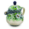 8 oz Stoneware Pitcher with Lid - Polmedia Polish Pottery H8008J