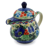 8 oz Stoneware Pitcher with Lid - Polmedia Polish Pottery H8018J
