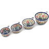 8 oz Stoneware Set of 4 Measuring Cups - Polmedia Polish Pottery H0674L