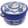 9-inch Stoneware Baker with Cover with Handles - Polmedia Polish Pottery H4282B