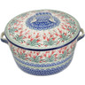 9-inch Stoneware Baker with Cover with Handles - Polmedia Polish Pottery H9795K