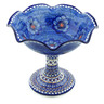 9-inch Stoneware Bowl with Pedestal - Polmedia Polish Pottery H5186J