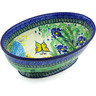 9-inch Stoneware Bowl with Pedestal - Polmedia Polish Pottery H6810G