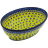 9-inch Stoneware Bowl with Pedestal - Polmedia Polish Pottery H7546G