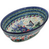 9-inch Stoneware Bowl with Pedestal - Polmedia Polish Pottery H9342I