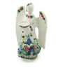 9-inch Stoneware Candle Holder - Polmedia Polish Pottery H0549I
