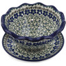 9-inch Stoneware Colander with Plate - Polmedia Polish Pottery H2032K