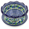 9-inch Stoneware Colander with Plate - Polmedia Polish Pottery H5834J
