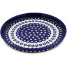 9-inch Stoneware Cookie Platter - Polmedia Polish Pottery H0565A