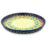 9-inch Stoneware Cookie Platter - Polmedia Polish Pottery H3469H