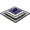 9-inch Stoneware Dish with Cover - Polmedia Polish Pottery H0279E