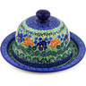 9-inch Stoneware Dish with Cover - Polmedia Polish Pottery H4165F