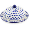 9-inch Stoneware Dish with Cover - Polmedia Polish Pottery H9014K