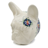 9-inch Stoneware Dog Head Wall Mount - Polmedia Polish Pottery H7472K