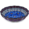 9-inch Stoneware Fluted Bowl - Polmedia Polish Pottery H4421A