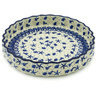 9-inch Stoneware Fluted Pie Dish - Polmedia Polish Pottery H2669H