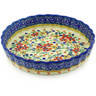 9-inch Stoneware Fluted Pie Dish - Polmedia Polish Pottery H4803F