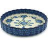 9-inch Stoneware Fluted Pie Dish - Polmedia Polish Pottery H6834A