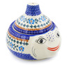 9-inch Stoneware Garlic and Onion Jar - Polmedia Polish Pottery H0229K