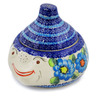 9-inch Stoneware Garlic and Onion Jar - Polmedia Polish Pottery H0725H