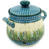 9-inch Stoneware Garlic and Onion Jar - Polmedia Polish Pottery H2807E