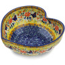 9-inch Stoneware Heart Shaped Bowl - Polmedia Polish Pottery H2203K
