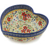 9-inch Stoneware Heart Shaped Bowl - Polmedia Polish Pottery H2710K