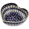 9-inch Stoneware Heart Shaped Bowl - Polmedia Polish Pottery H2799K
