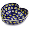 9-inch Stoneware Heart Shaped Bowl - Polmedia Polish Pottery H2828K