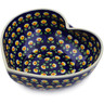 9-inch Stoneware Heart Shaped Bowl - Polmedia Polish Pottery H2889K