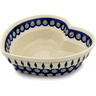 9-inch Stoneware Heart Shaped Bowl - Polmedia Polish Pottery H6429C