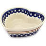 9-inch Stoneware Heart Shaped Bowl - Polmedia Polish Pottery H7518C