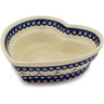 9-inch Stoneware Heart Shaped Bowl - Polmedia Polish Pottery H9596C