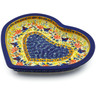9-inch Stoneware Heart Shaped Platter - Polmedia Polish Pottery H2195K