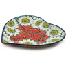 9-inch Stoneware Heart Shaped Platter - Polmedia Polish Pottery H3365I