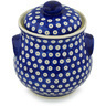 9-inch Stoneware Jar with Lid and Handles - Polmedia Polish Pottery H0436H