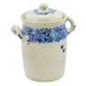 9-inch Stoneware Jar with Lid and Handles - Polmedia Polish Pottery H8554J